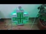 LED Pharmacy Crosses 40x40